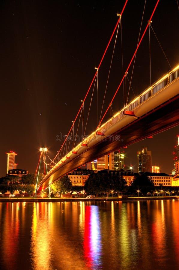 На основе Франкфурта на ноче, стоковые фото
