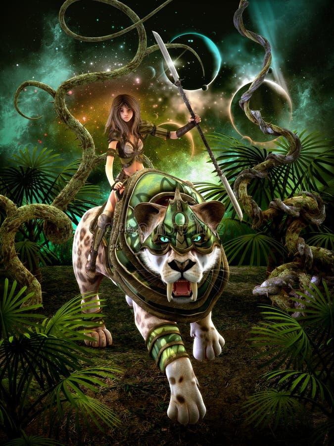 На охоте, 3d CG иллюстрация штока