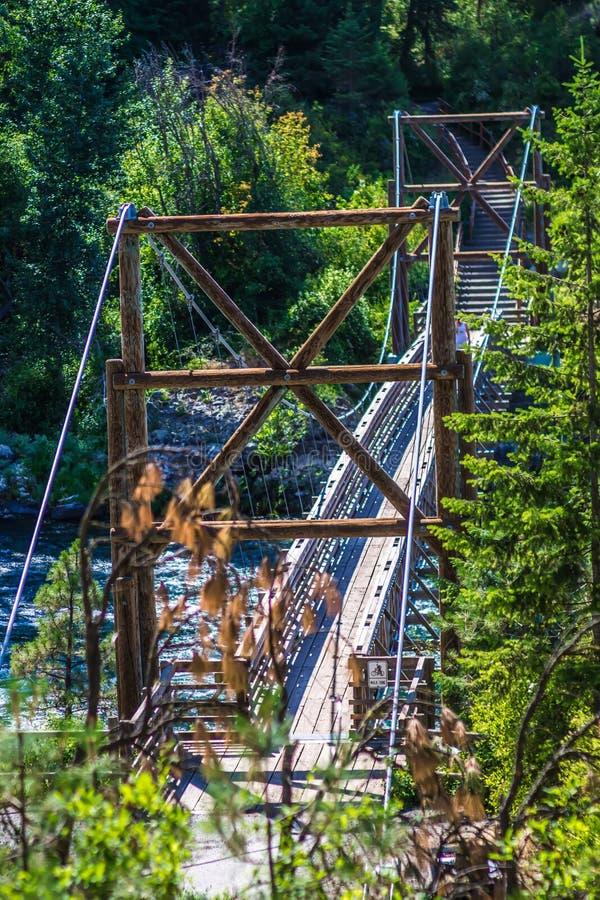 На парке штата шара и кувшина берега реки в spokane Вашингтоне стоковые изображения