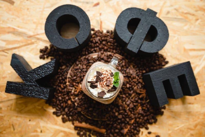 Надпись кофе на русском стоковая фотография rf