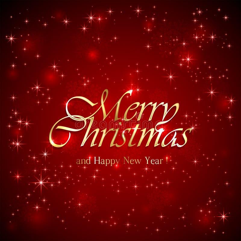 Надпись с Рождеством Христовым на красной предпосылке бесплатная иллюстрация