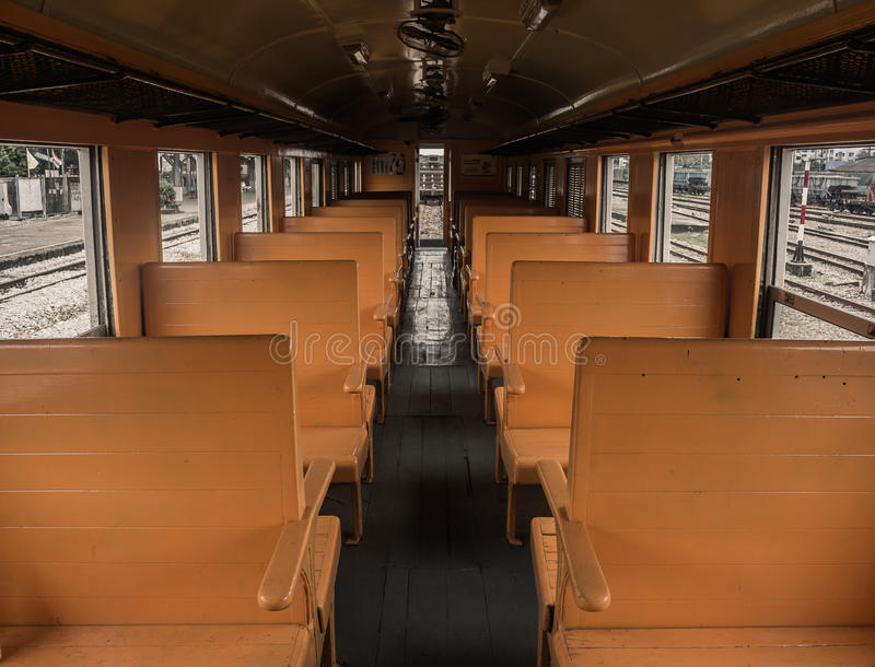 На поезде стоковое фото rf
