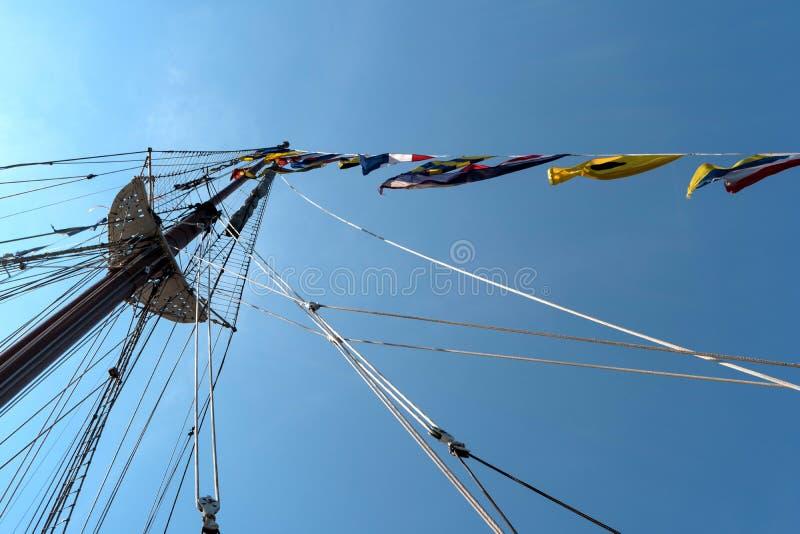 На правлении плавая учебного судна стоковое изображение