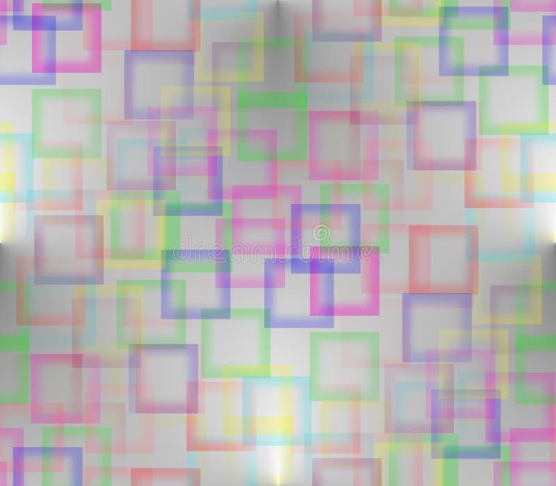 На предпосылке серого цвета покрашенной с покрашенными квадратами иллюстрация вектора