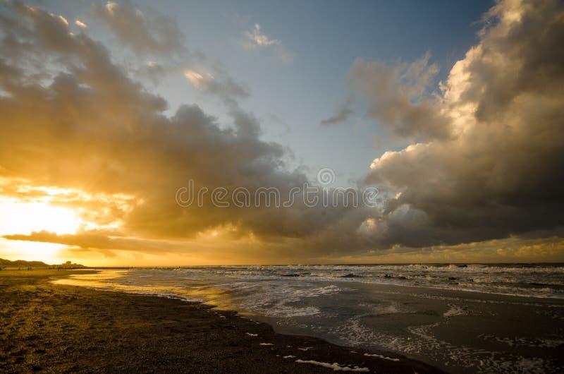 На пляже Norderney в Германии стоковое фото