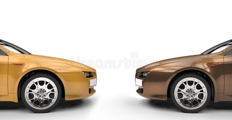 На равных автомобили стоковые фото