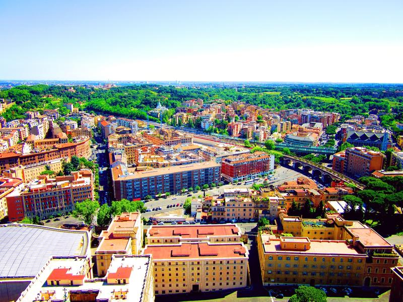 Над Римом стоковое фото