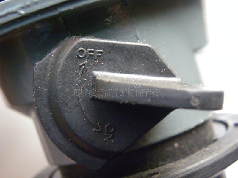 На с переключателе регулятора баллона стоковое изображение