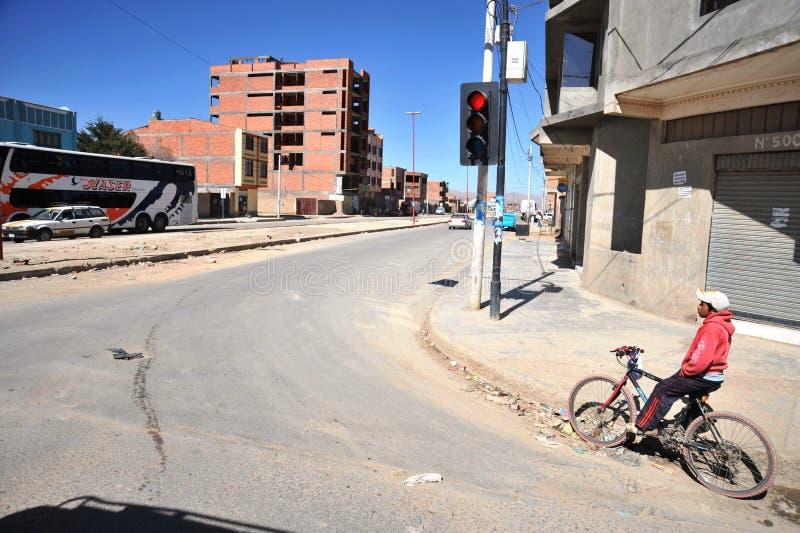 На улицах города Oruro стоковые фотографии rf