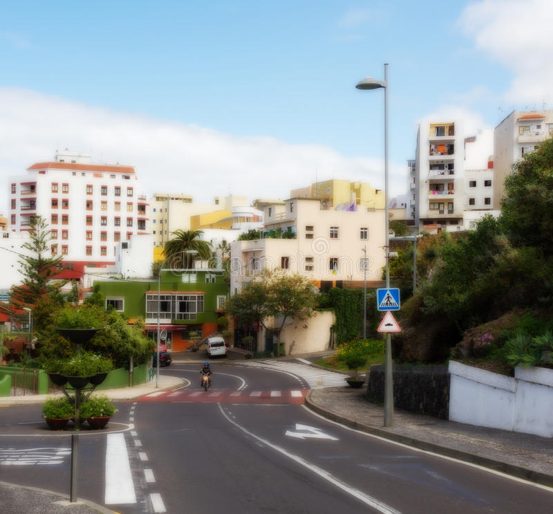 На улице в Icod стоковая фотография rf