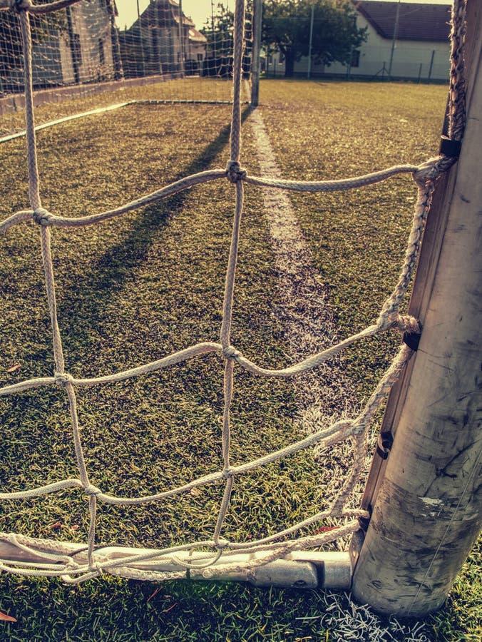 На футбольном поле футбола   стоковая фотография rf