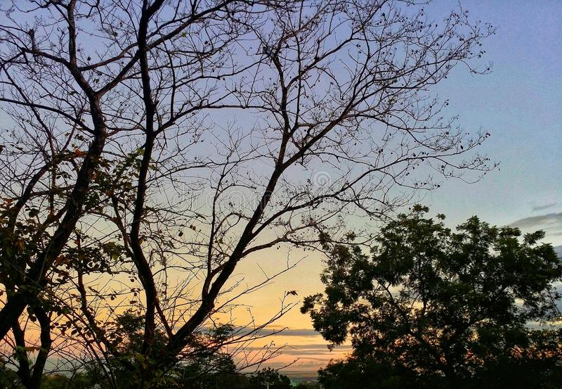 На часе захода солнца стоковое изображение