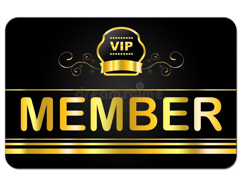 На членский билет показано очень важное лицо и допущение бесплатная иллюстрация
