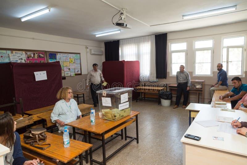 На Datca, Mugla, Турция 16-ое апреля 2017: Референдум в Турции, стоковое изображение