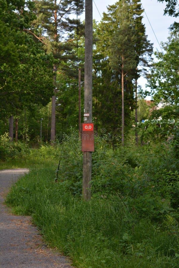 На greenway в Швеции стоковое фото