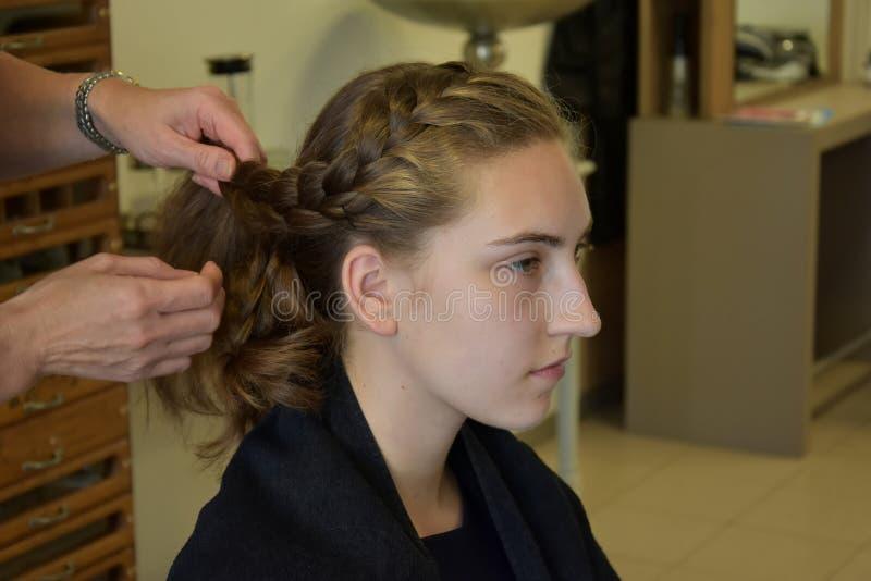 На hairdersser стоковые изображения