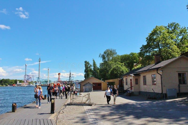 На Skeppsholmen в Стокгольме стоковое фото rf