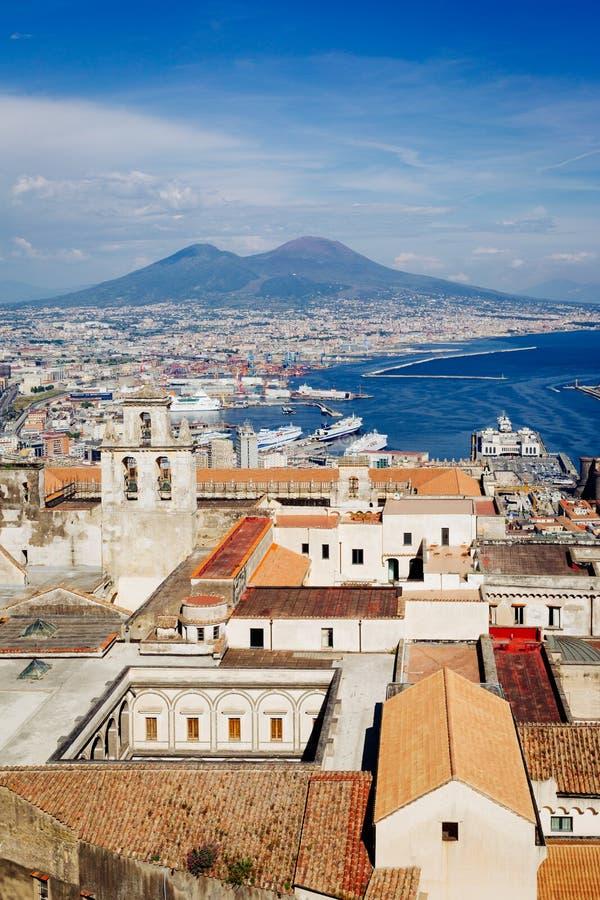 Неаполь, взгляд от Сан Martino Certosa стоковое изображение rf