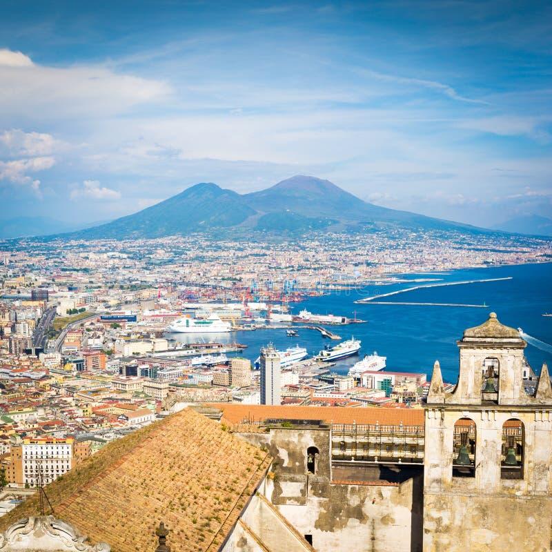 Неаполь от Сан Martino стоковое изображение rf