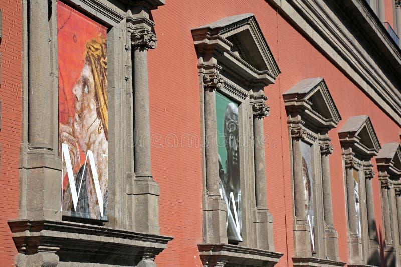 Неаполь, Италия, 02/21/2017: Неаполь национальное археологическое Mus стоковое изображение