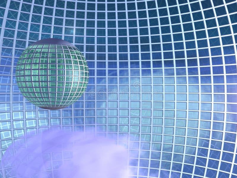небеса решетки глобуса города окружили бесплатная иллюстрация