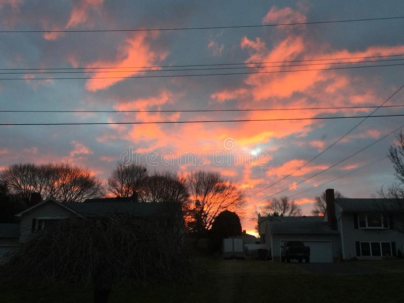 Небеса сумрака стоковые фотографии rf