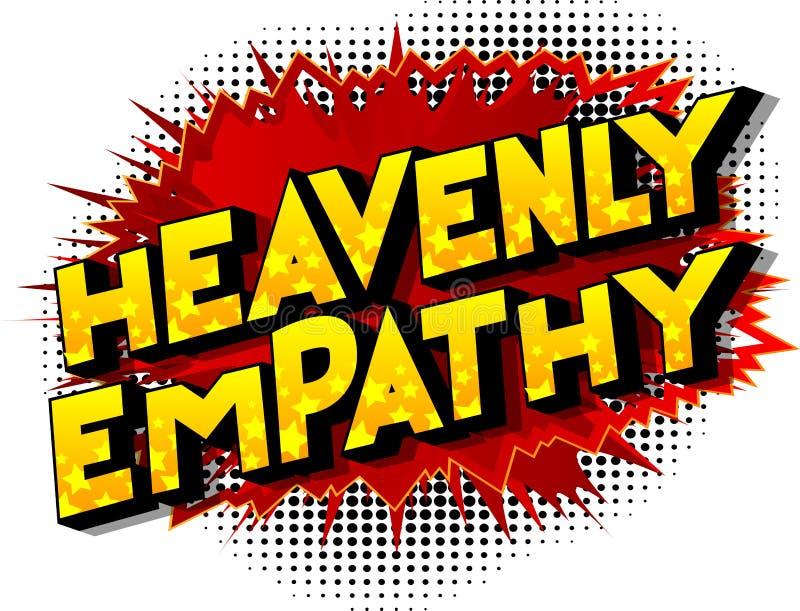 Небесное сопереживание - слова стиля комика бесплатная иллюстрация