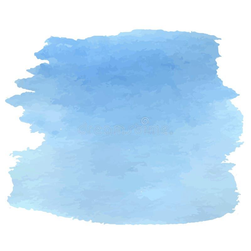 Небесно-голубая акварель бесплатная иллюстрация