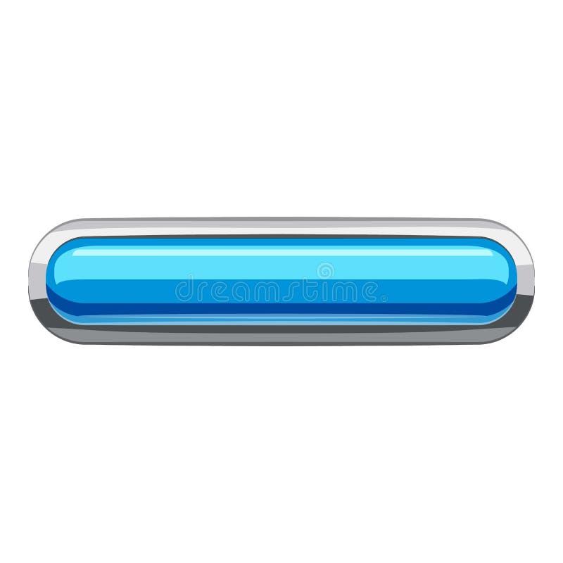 Небесно-голубой прямоугольный значок кнопки, стиль шаржа бесплатная иллюстрация