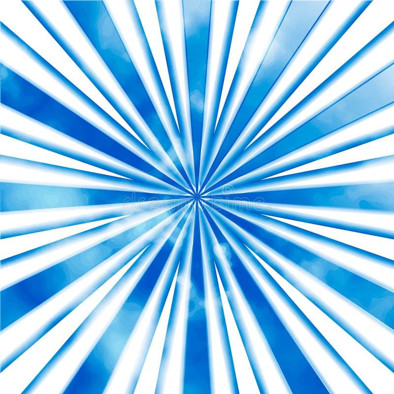 Небесно-голубые лучи и облака иллюстрация штока