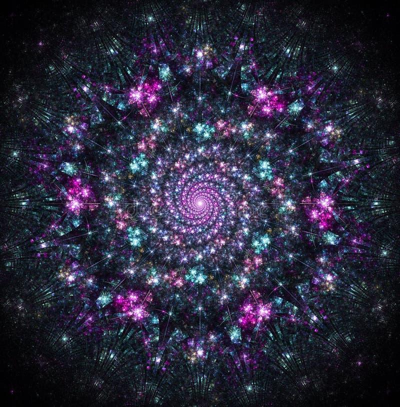 Небесный водоворот галактик иллюстрация штока