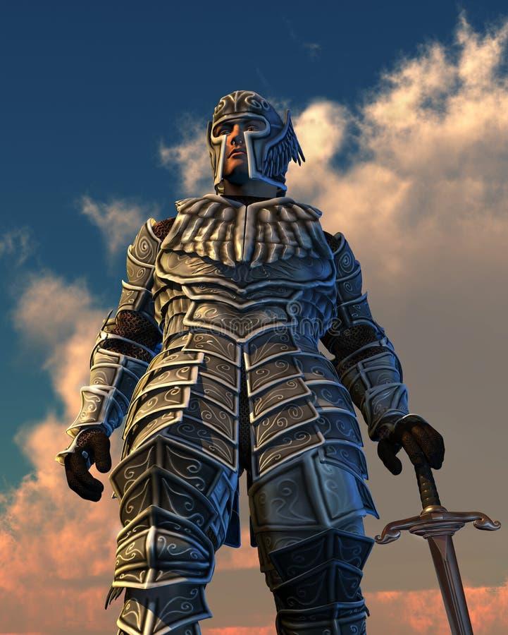 небесный рыцарь иллюстрация вектора
