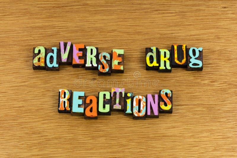 Неблагоприятные реакции лекарства стоковые изображения