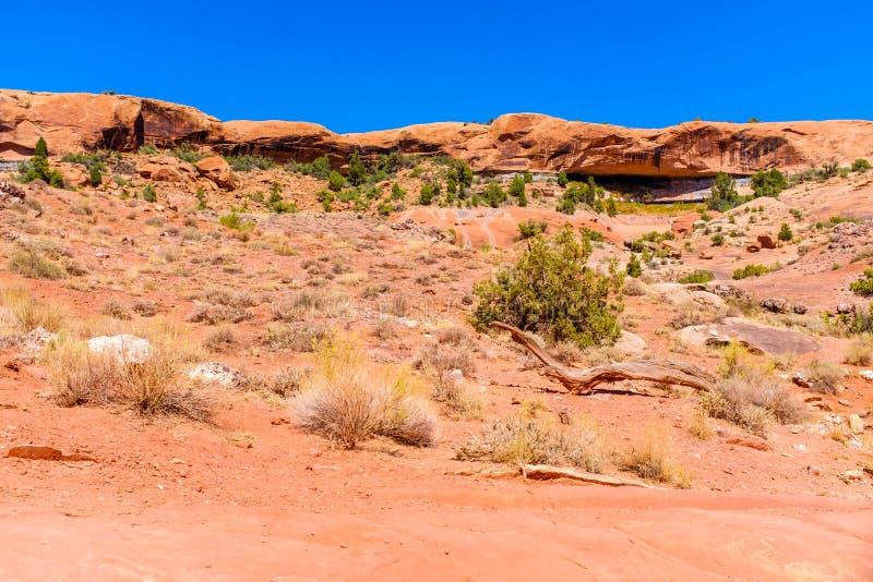 Небольшая скалистая горная цепь в пустыне стоковые изображения rf