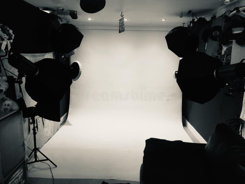 Небольшая студия фотографии, фотография портрета стоковые изображения rf