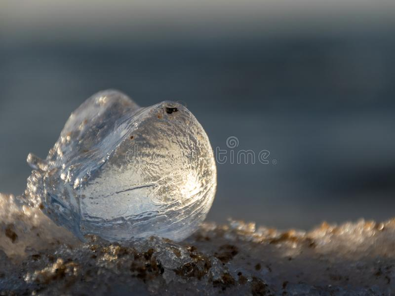 Небольшая часть льда накаляет стоковое изображение rf