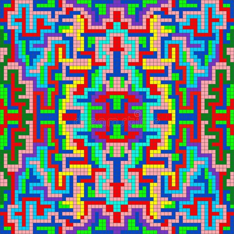 Небольшие пикселы покрасили геометрическую абстрактную картину бесплатная иллюстрация