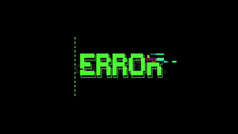 Небольшое затруднение ошибки сообщения искусства ASCII иллюстрация штока