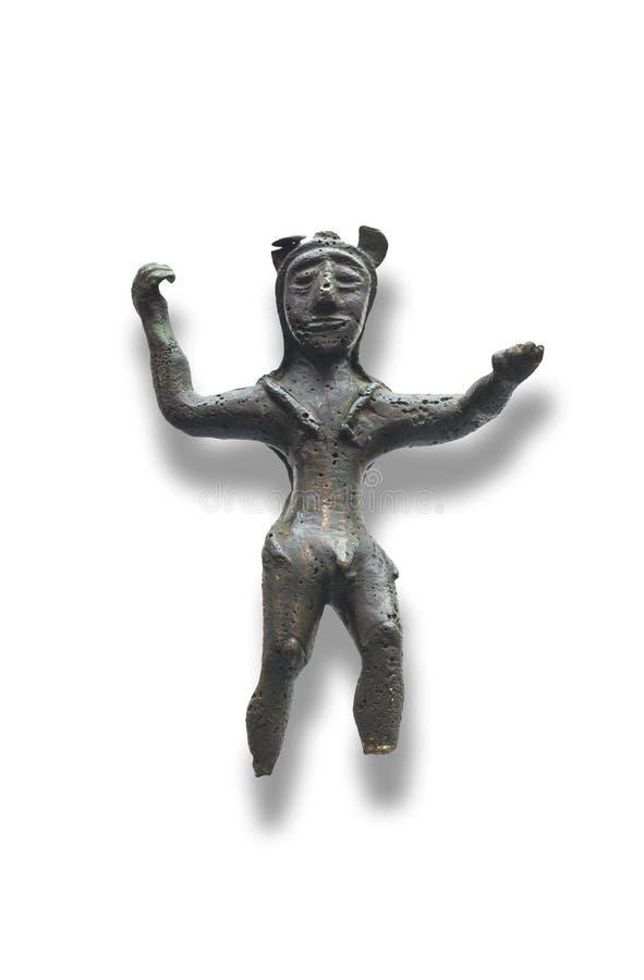 Небольшой бронзовый figurine Phoenician бога Melkart стоковые изображения