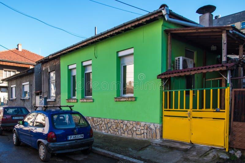 Небольшой зеленый дом стоковая фотография
