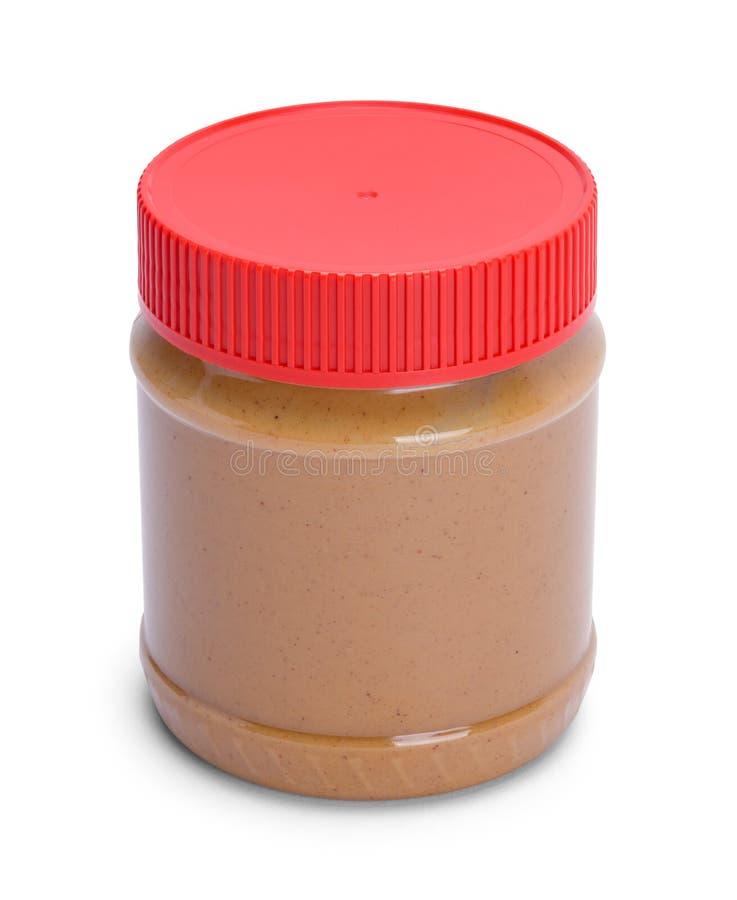 Небольшой контейнер арахисового масла стоковая фотография rf