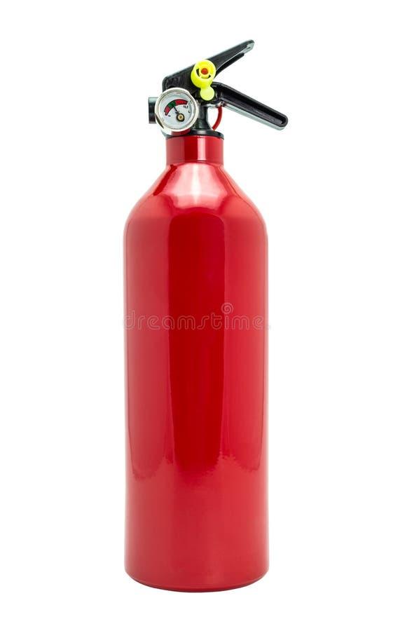 Небольшой, ручной огнетушитель, изолированный на белой предпосылке с закрепляя путем стоковые изображения