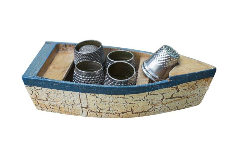 Небольшой rowboat игрушки с кольцами стоковые фото