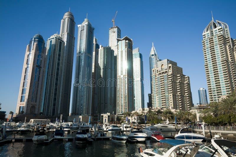 Небоскребы, высокие здания в Дубай, UEA стоковые фото