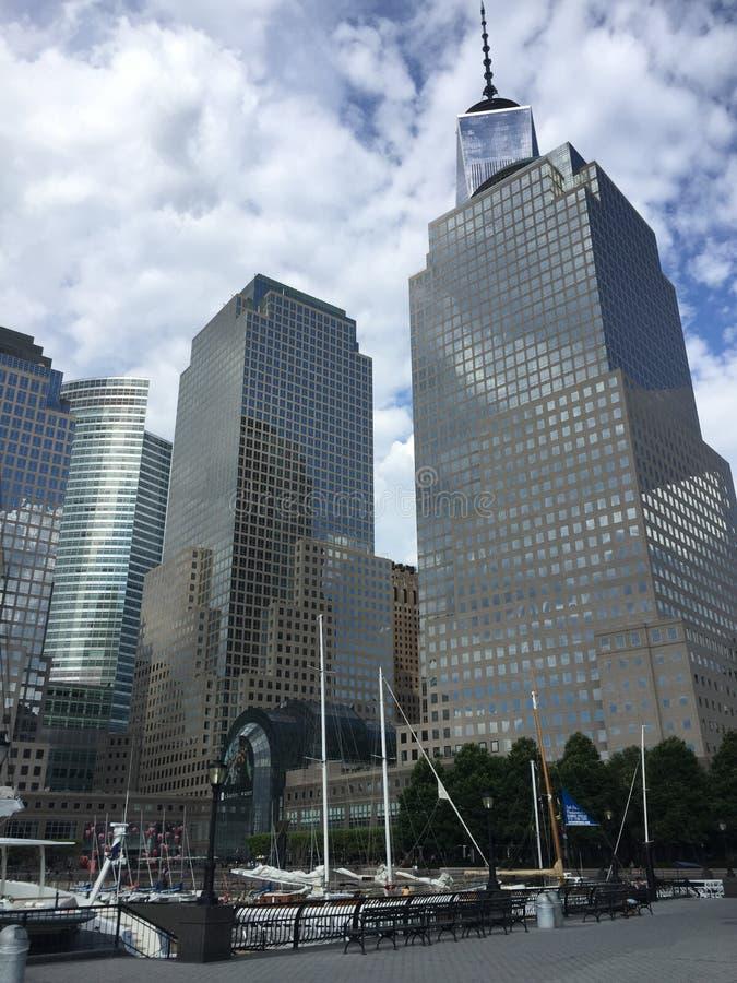 Небоскребы в Нью-Йорке, NY стоковое фото rf