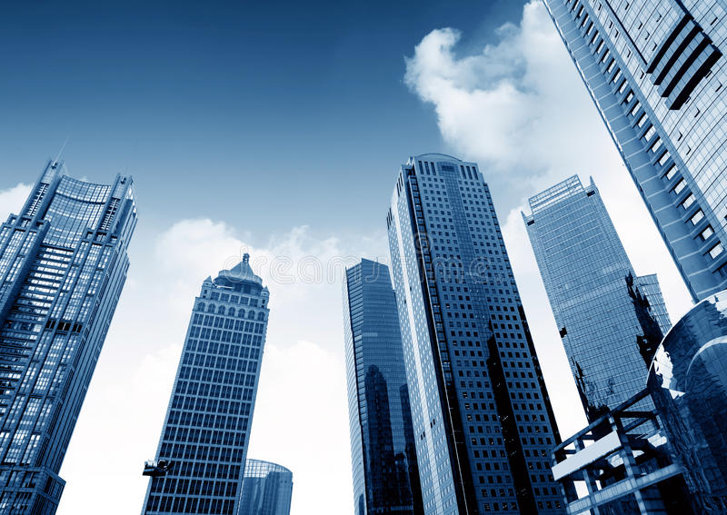 Download Небоскребы в Шанхае, Китае стоковое фото. изображение насчитывающей небоскреб - 37930194