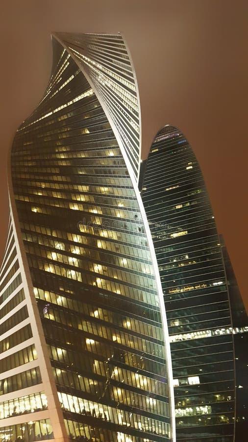 Небоскребы города Москвы стоковое фото rf