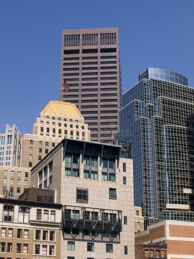 небоскребы города стоковые фотографии rf