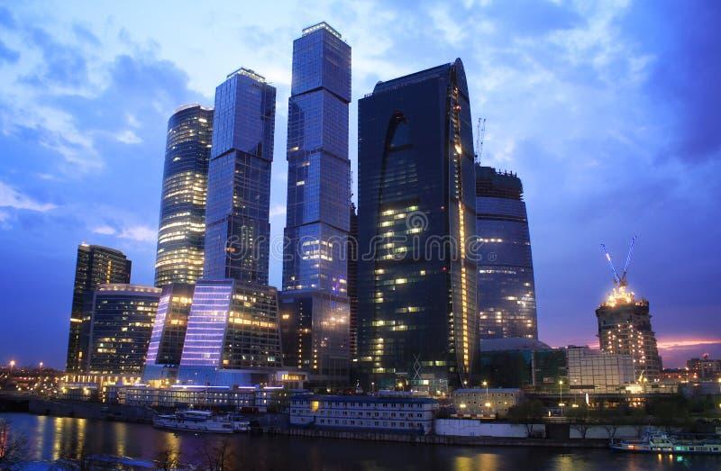 Небоскребы города Москвы стоковая фотография rf