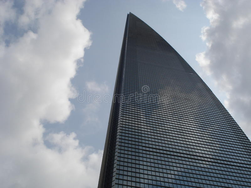Небоскребы, здание города Пудуна, Шанхая, Китая стоковое изображение rf